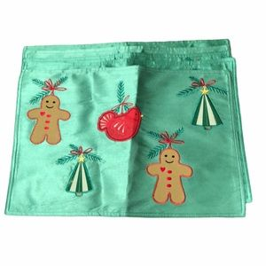 Christmas Gingerbread man set of 5 placemats